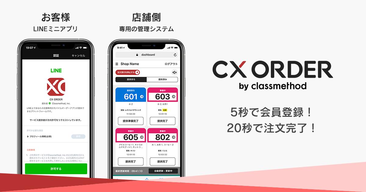 CX ORDERメインビジュアル